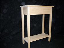 """Unfinished 24"""" Console, Sofa, Foyer Beveled Edge 11"""" deep Pine table w/Shelf"""