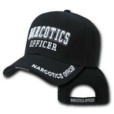 NARCOTICS OFFICER POLICE EMBROIDERED BLACK HAT CAP