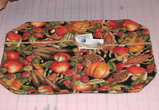 1 Set  Vegitables Placemats 2 w center round Made Maine mushrooms wheat