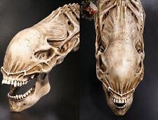 Hot Huge Resin Fossil Statue 20″ AVP Predator VS Alien Skull Skeleton Figure Toy