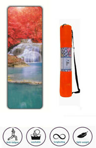 Fortune Extra Thick High Density Exercise Yoga Mat with Carrying Bag for Exercis