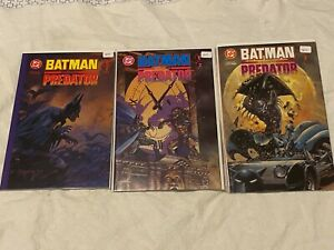 Batman vs. Predator Prestige editions #1-3 Kubert Suydam  DC/Dark Horse  ** NM**