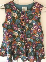 New Matilda Jane Paint By Numbers Meadow Peplum Top Size 12 Flowers 🌺