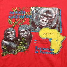 Vintage 80s Busch Gardens T Shirt Single Stitch Africa Gorillas Extinction Large