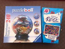 Job Lot Bundle 2 Jigsaws Ocean Puzzleball 240 Pieces Cadbury's Roses 500 Pieces
