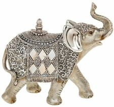 Shudehill Silver Pearl Elephant With Trunk In Air Ornament