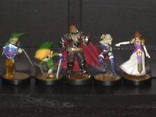 Nintendo Amiibo Zelda 5 figure lot Link Ganondorf Sheik Smash Bros Ultimate