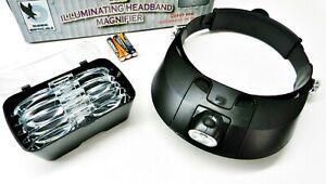 5 Lens Head Visor Magnifier Binocular with 2 LED Lights Illuminating Headband