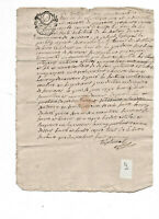 1790 Manuscript letter Tribunal court subject with nice stamp calligraphy and si