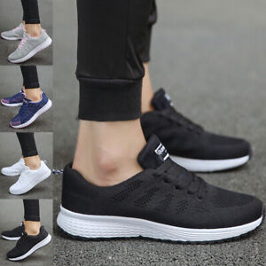 Women Running Lace Up Sneakers Lady Athletic Sport Walking Trainers Casual Shoes