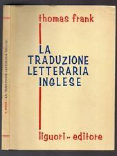 LA TRADUZIONE LETTERARIA INGLESE di Thomas Frank