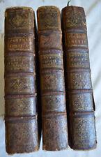 1719 Josephi Pitton Tournefort Institutiones Rei Herbaria 3T 489 planches herbie
