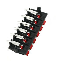 2PCS Double Row Red Black 12 Pin 12 in Jack Speaker Terminals DT