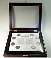 US  Susan B. Anthony One Dollar Collection Coins Framed 1979-1999