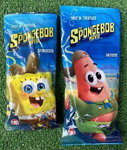 2 Wendys The SpongeBob Movie SpongeBob & Patrick Keychains Backpack Clips NEW