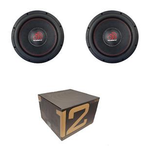 "Pair of Massive Audio 12"" 4000W Max Dual 4 Ohm 3"" DVC Subwoofer KILOX124"