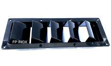 Prise d'air latéral Moteur Grille d'aération 5 volets Plastique Noir 336mmx121mm