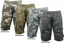 "Mid 7 to 13"" Inseam Cargo, Combat Unbranded Shorts for Men"