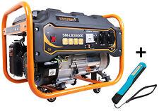 Stromgenerator 3300 Watt Stromerzeuger Notstrom Stromaggregat + COB Stiftlampe