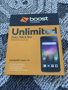 Coolpad Legacy Go - 8GB - Black (Boost Mobile) Smartphone