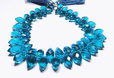 Neon Apatite Apatite Hydro Quartz Faceted Barrel Briolette Beads 7x12mm