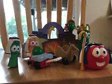Veggie Tales Nativity Manger 7 Piece Play Set Christmas Bob Larry