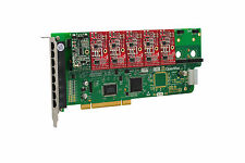 OpenVox A800P15 8 Port Analog PCI Base Card + 1 FXS + 5 FXO, Ethernet (RJ45)