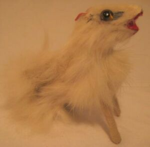 Old 1920s Fur Borzoi Hound Pet Dog for French or German Fashion Doll