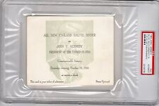 John F. Kennedy 1963 Ticket Salute Dinner Boston Last Appearance
