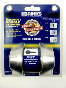Brinks Deadbolt Double Cylinder High Security 1416943-8 Ships Free