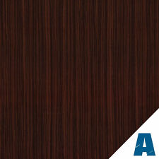 Pellicola Adesiva Mogano Scuro Opaco larg. 60 cm AL METRO LINEARE effetto legno