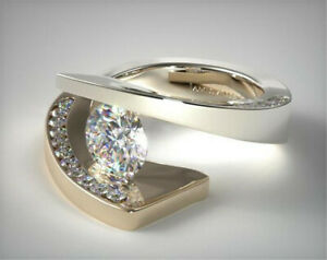 Fashion Gold Filled Rings for Women White Moonstone Jewelry Gift Size 6