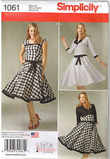 Sew Chic Vintage Retro Dress Jacket Simplicity Sewing Pattern Size 4 6 8 10 12