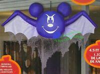 HALLOWEEN 4.5 FT DISNEY MICKEY MOUSE VAMPIRE BAT Airblown Inflatable GEMMY