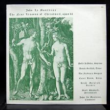JOHN LA MONTAINE nine lessons of christmas LP Mint- FD-6 Private 1976 Fredonia