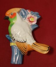 Seyei Toki Japan Art Deco Luster Figural Bird Wall Pocket HTF Style