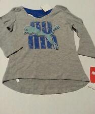 """""""Puma"""" Puma Girls Size 6 ~3/4 Sleeve Grey Shirt Top ~Nwt"""
