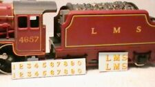 TRIANG HORNBY LIMA LMS LETTERS NUMBERS X2 TRANSFERS DECAL YELLOW GOLD RED SHADE
