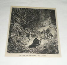 1879 magazine engraving ~ THE TAPIR AND THE SERPENT