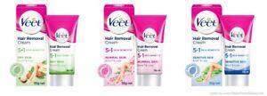 (Pack of - 2) Veet 5 in 1 Skin Benefits Hair Removal Cream -50g Each Choose Pack