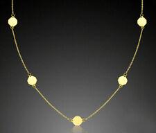 ECHT GOLD *** Feines Achteck-Motiv Collier Kette 42-45  cm