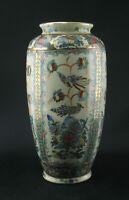 Chinesische Canton Medallion Vase Porzellan Famille rosé 19 Jhd. Goldrand Blumen