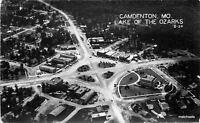 Aerial 1940s Candenton Missouri Lake of the Ozarks Cedar RPPC Real photo 8209