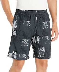 Under Armour Launch SW 9 Inch Printed Mens Running Shorts - Black