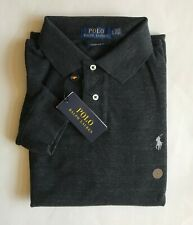 $90 NWT Mens Polo Ralph Lauren Custom Slim Fit Mesh Long Sleeve Shirt Black XL