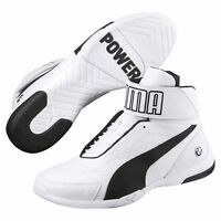 NEW NIB Men's PUMA BMW Kart Cat III MID SF High Top Shoes Sneakers Ultra White