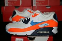 Nike Air Max 90 Essential White Photo Blue Total Orange Men's AJ1285-104 NEW