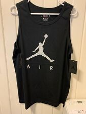 Men's NIKE AIR JORDAN TANK TOP Poolside Black/Cement Gray CZ2326 010 NWT Sz MED