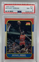 Michael Jordan 1986 Fleer Rookie Card #57 PSA 8 NM-MT 50457547.  🔥🔥🔥🔥