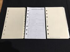 FILOFAX-Personal A-Z/Blank Divider Cream Card PVC Tipped/Lined /Address Packs
